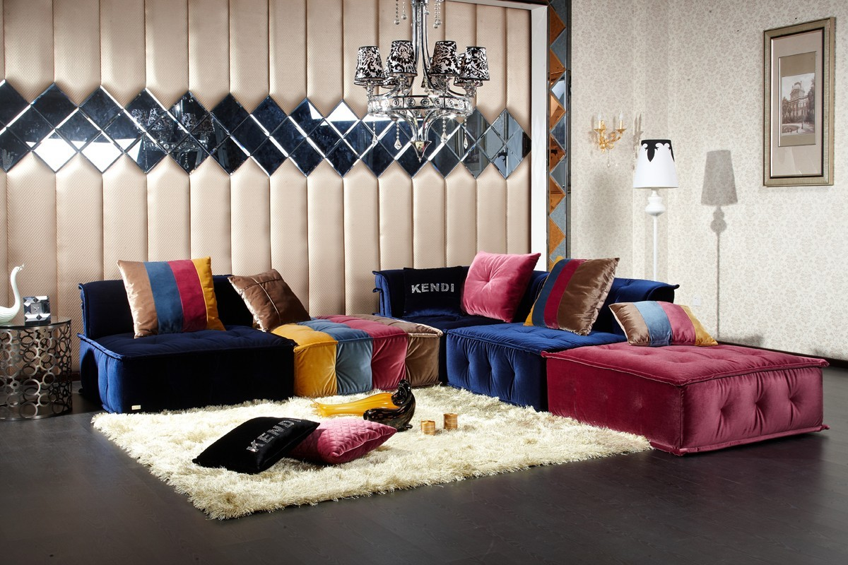 Divani Casa Dubai Contemporary Fabric Sectional Sofa Special Specials