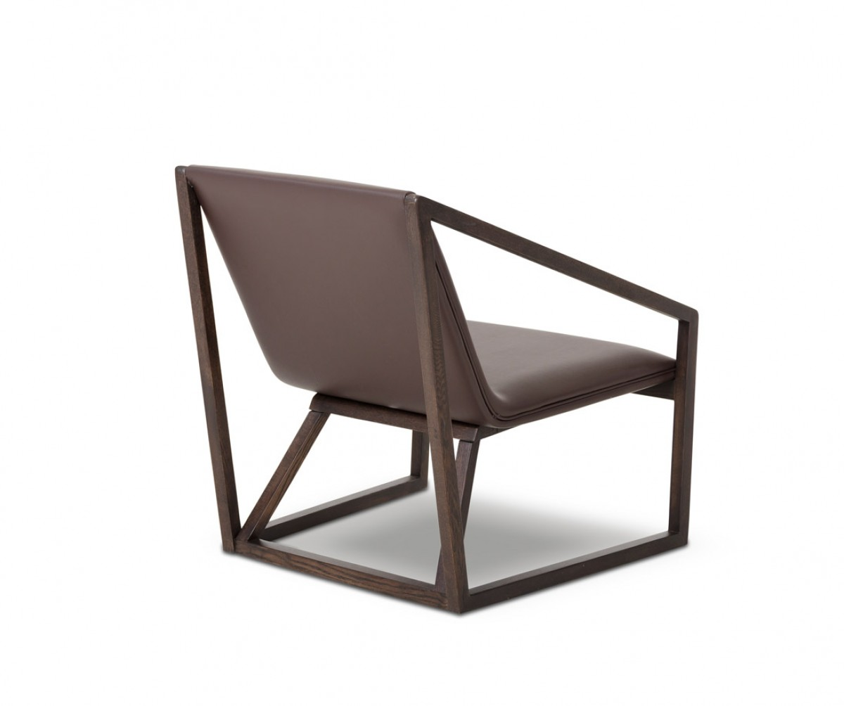 Divani casa taranto modern brown eco leather lounge for Stylish lounge chairs