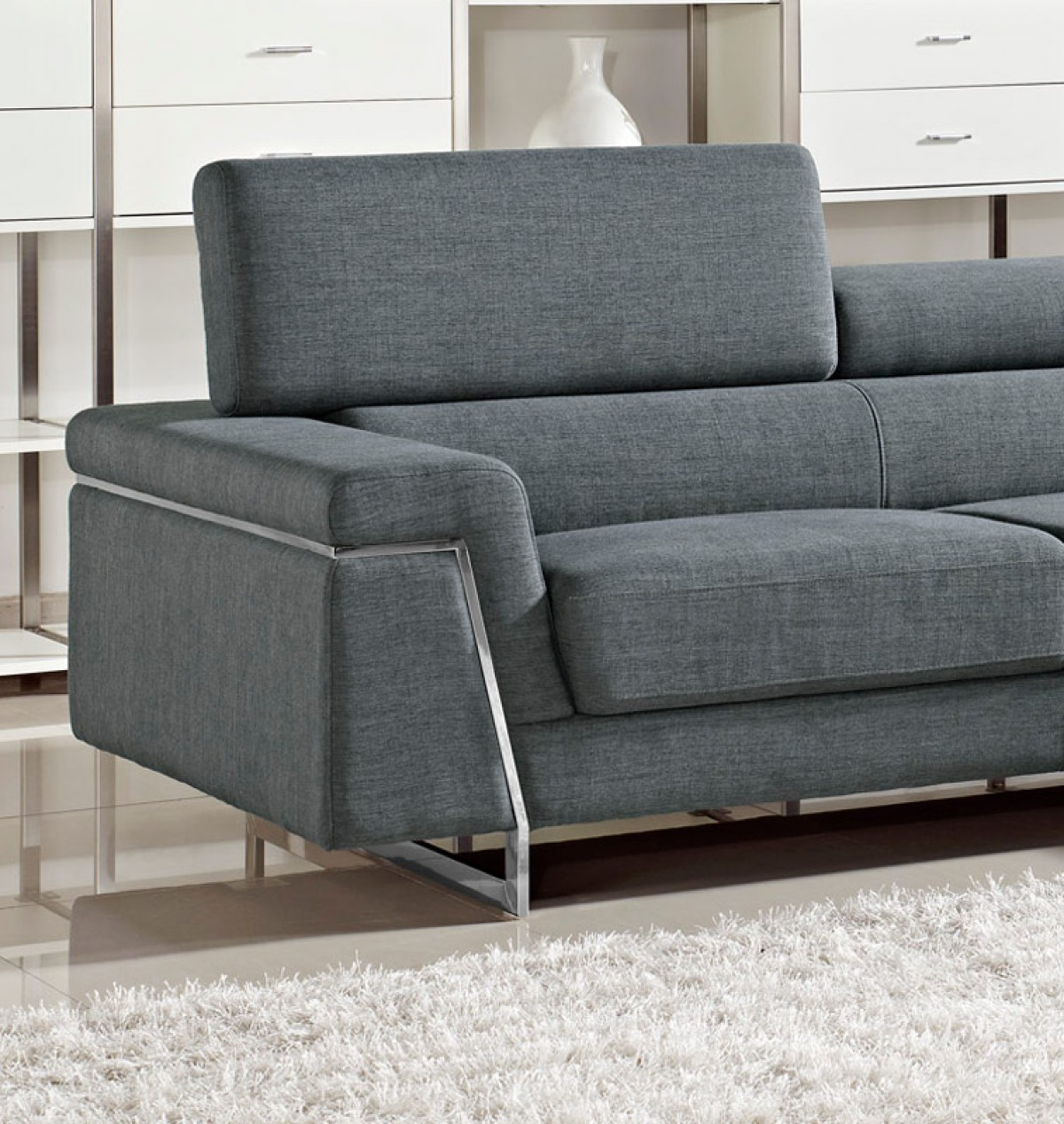 Fabric For Furniture: Modern Fabric Sectional Sofa Set