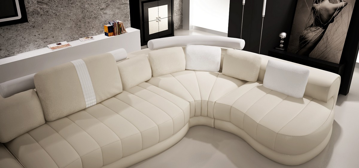: cream leather sectionals - Sectionals, Sofas & Couches