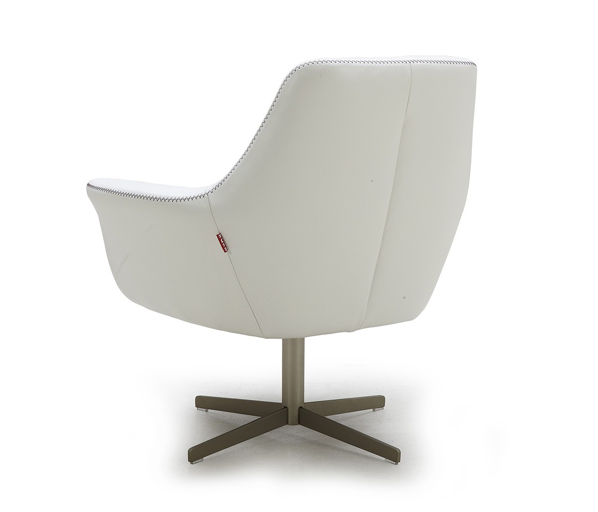 Divani casa poli modern leather swivel lounge chair for Modern lounge furniture