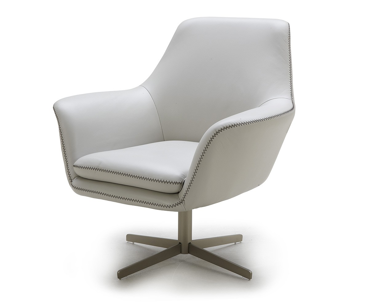white leather swivel armchair divani casa poli modern leather swivel lounge chair 22013 | a 832 c1