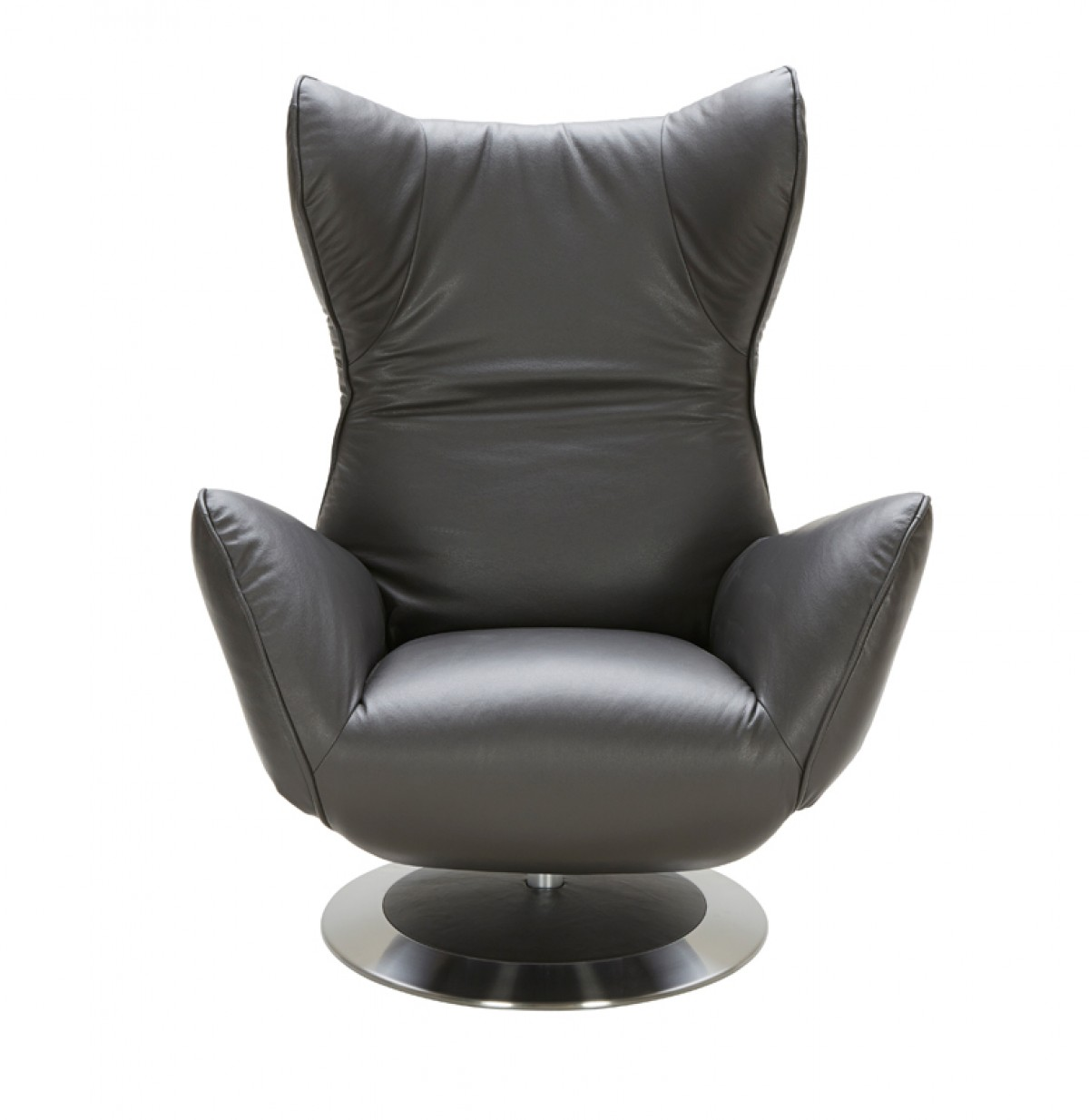 home divani casa manitoba modern grey leather electric recliner chair