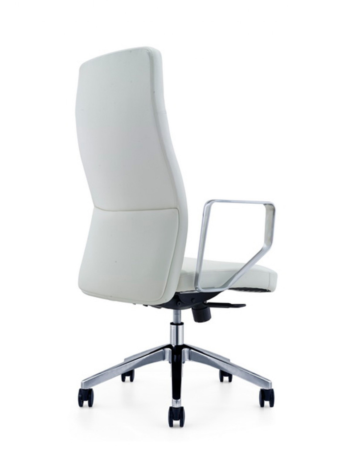 home modrest barra modern white high back office chair