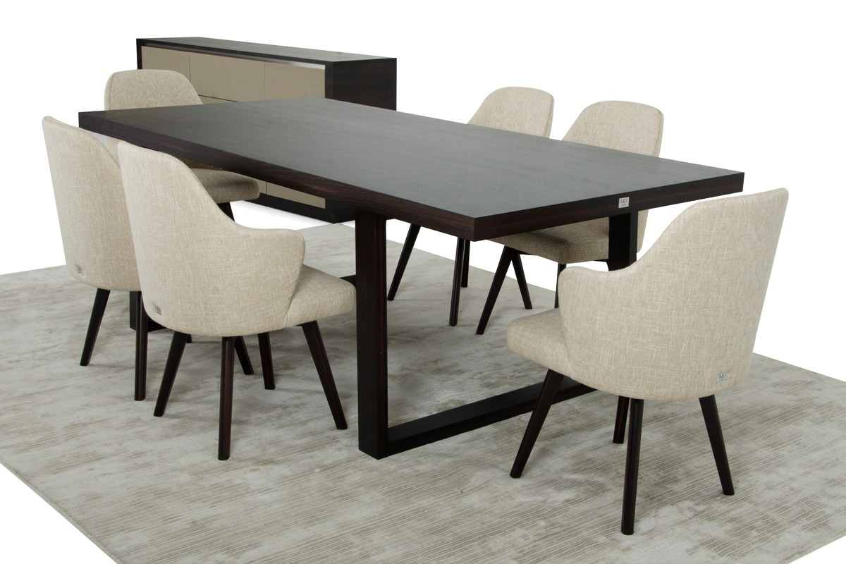 ax caligari modern oak dining table - Contemporary Oak Dining Table