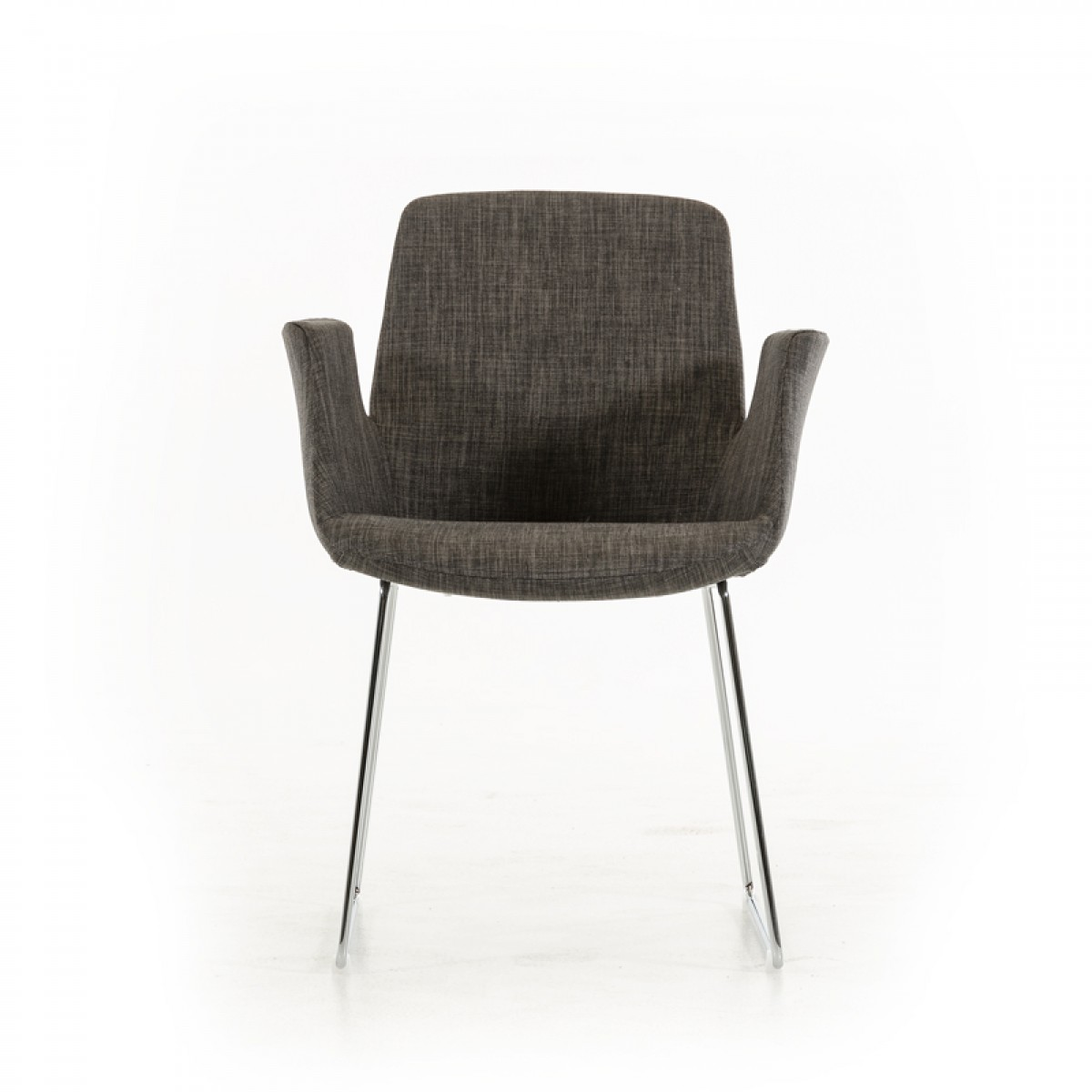 modrest altair modern grey fabric dining chair dining
