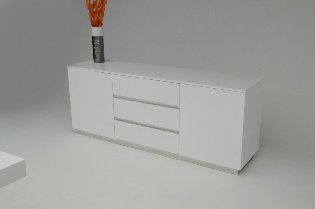AX Skyline White Crocodile Lacquer Buffet