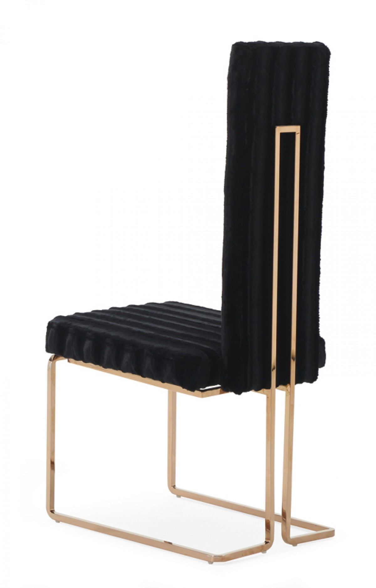 Modrest Kingsley Modern Black Amp Rosegold Dining Chair Set