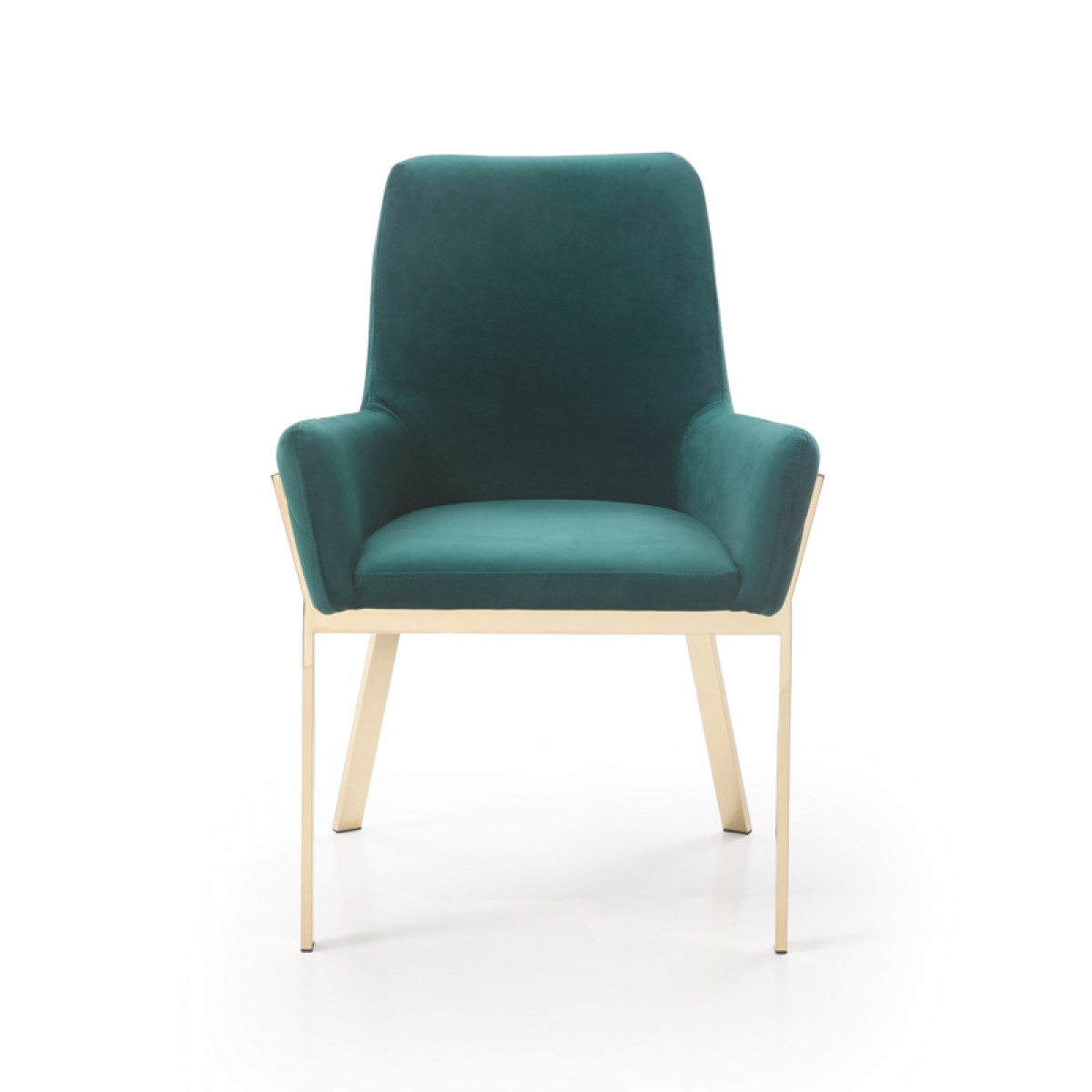 Modrest Robin Modern Green Velvet Amp Gold Dining Chair