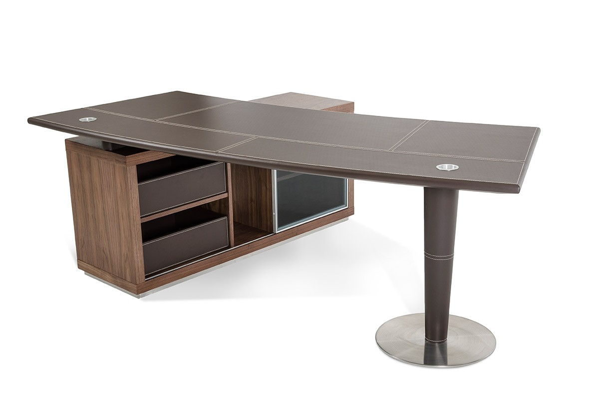 Modern Office Desk: Modern Office Desk And Side Storage Cabinet