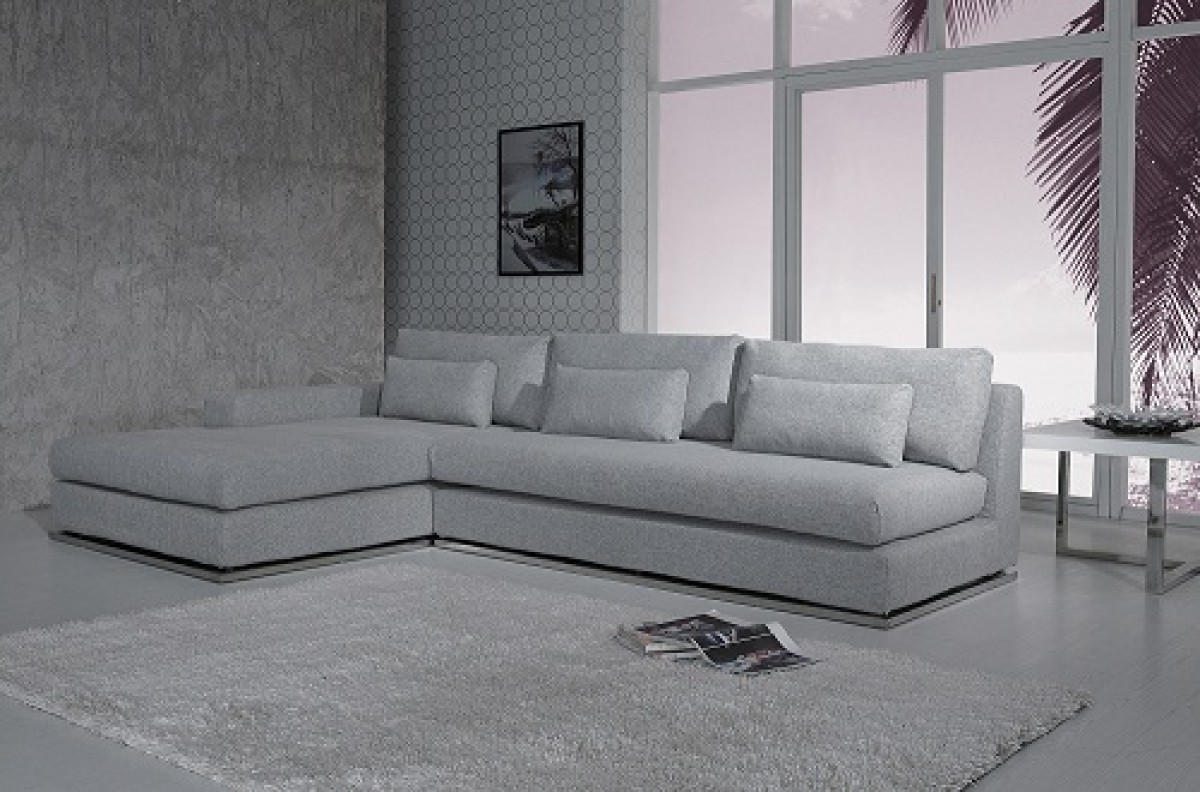 Divani Casa Ashfield Modern Fabric Sectional Sofa