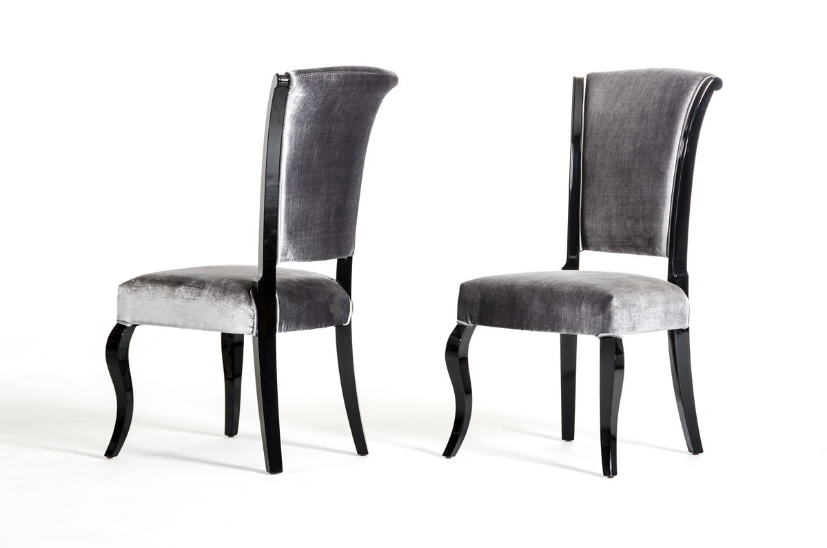 Versus mia seema modern black grey dining set for 4 x dining room chairs