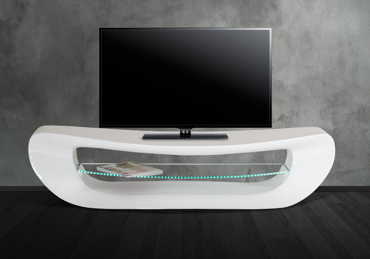 Modrest Crest   Contemporary White TV Stand   Entertainment Centers    Living Room
