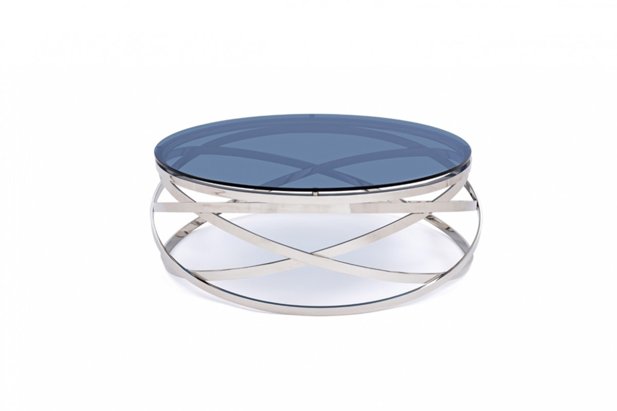 Modrest Tulare Contemporary Smoked Glass Coffee Table