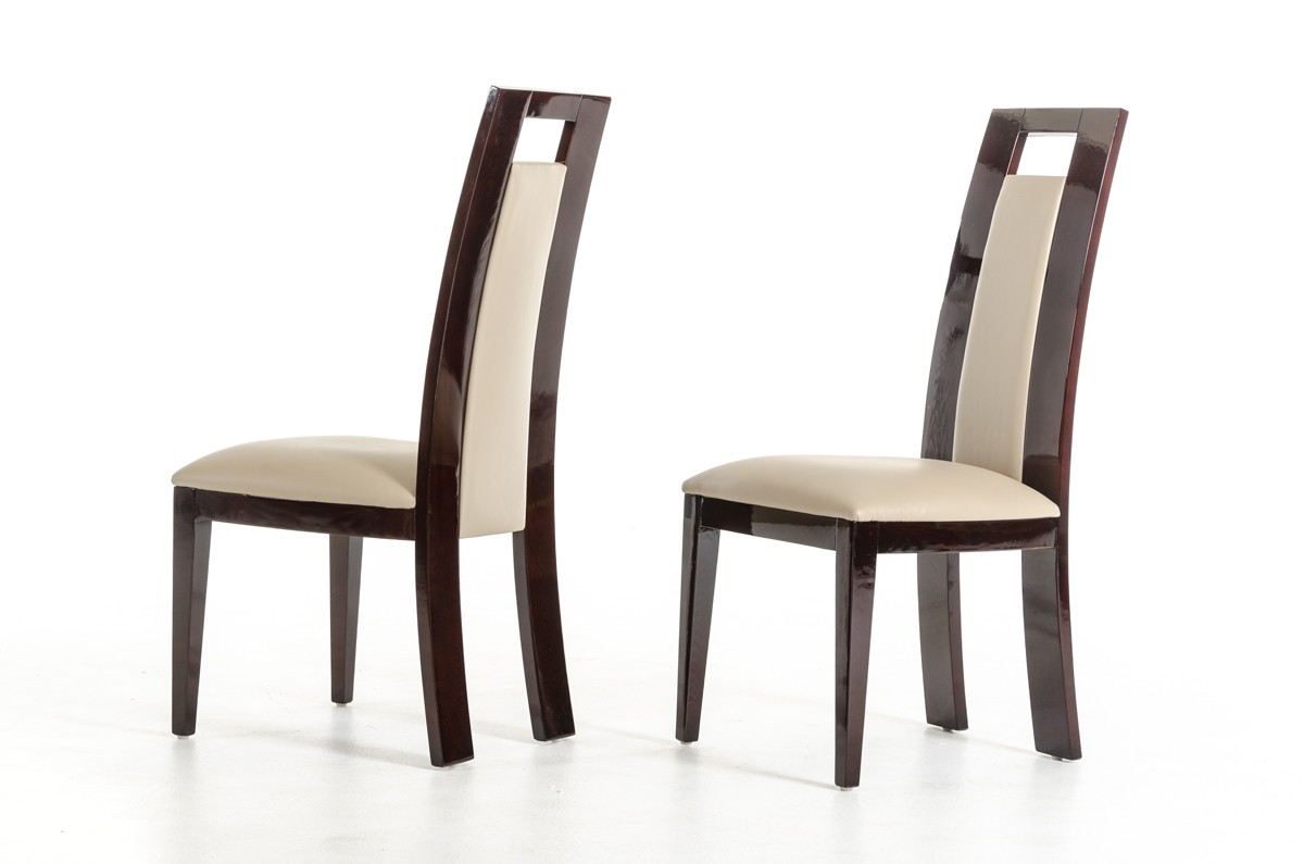 Modrest Douglas Modern Ebony and Taupe Dining Chair - Dining ...