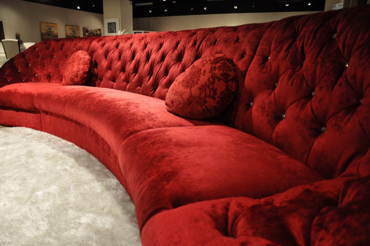 Red Sectional Sofas Fabric