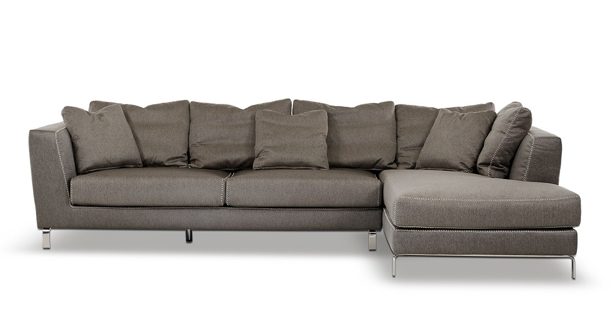Divani casa chianti modern taupe fabric sectional sofa for Brighton taupe 3 piece chaise and sofa set