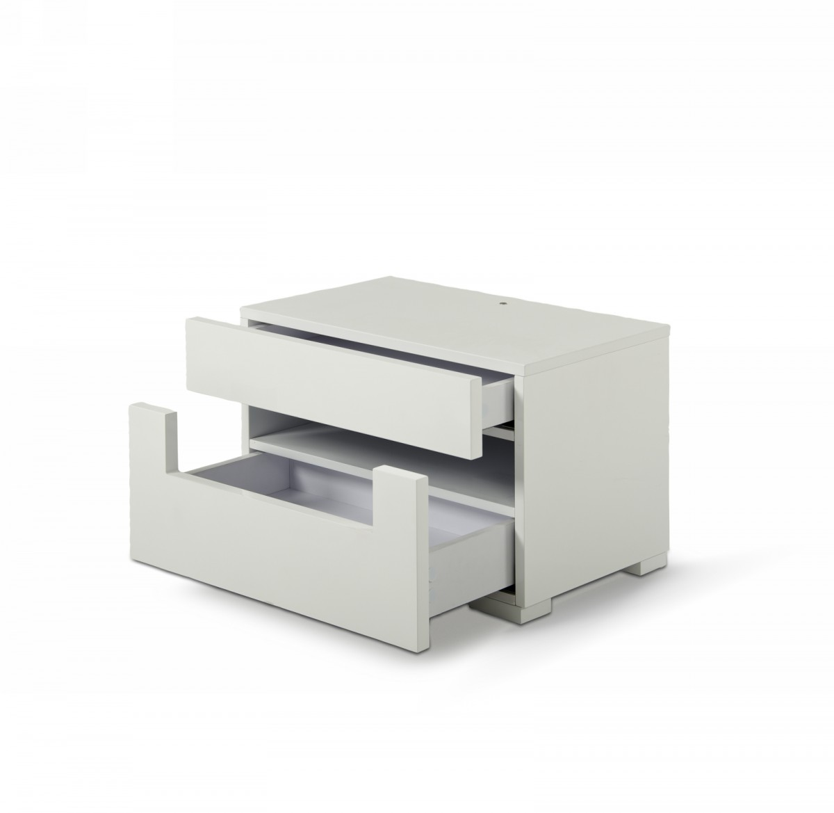 Modrest Ceres   Modern LED White Lacquer Nightstand   Gaudi   Collections