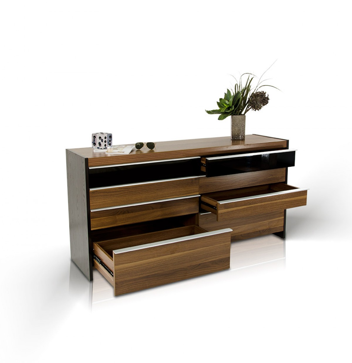 About rondo modern platform bed w nightstands storage and lights