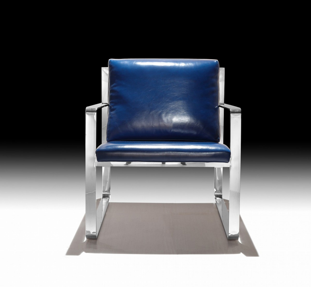 Apex Modern Blue Leatherette Accent Chair