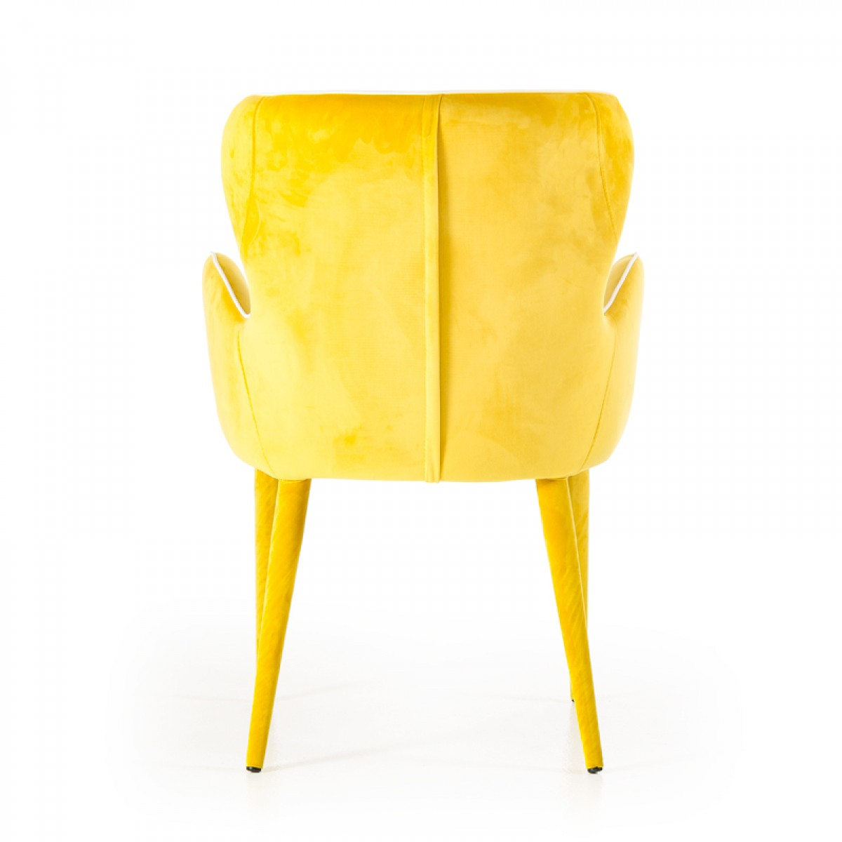 modrest tigard modern yellow fabric dining chair timeless : tigard modern yellow fabric dining chair