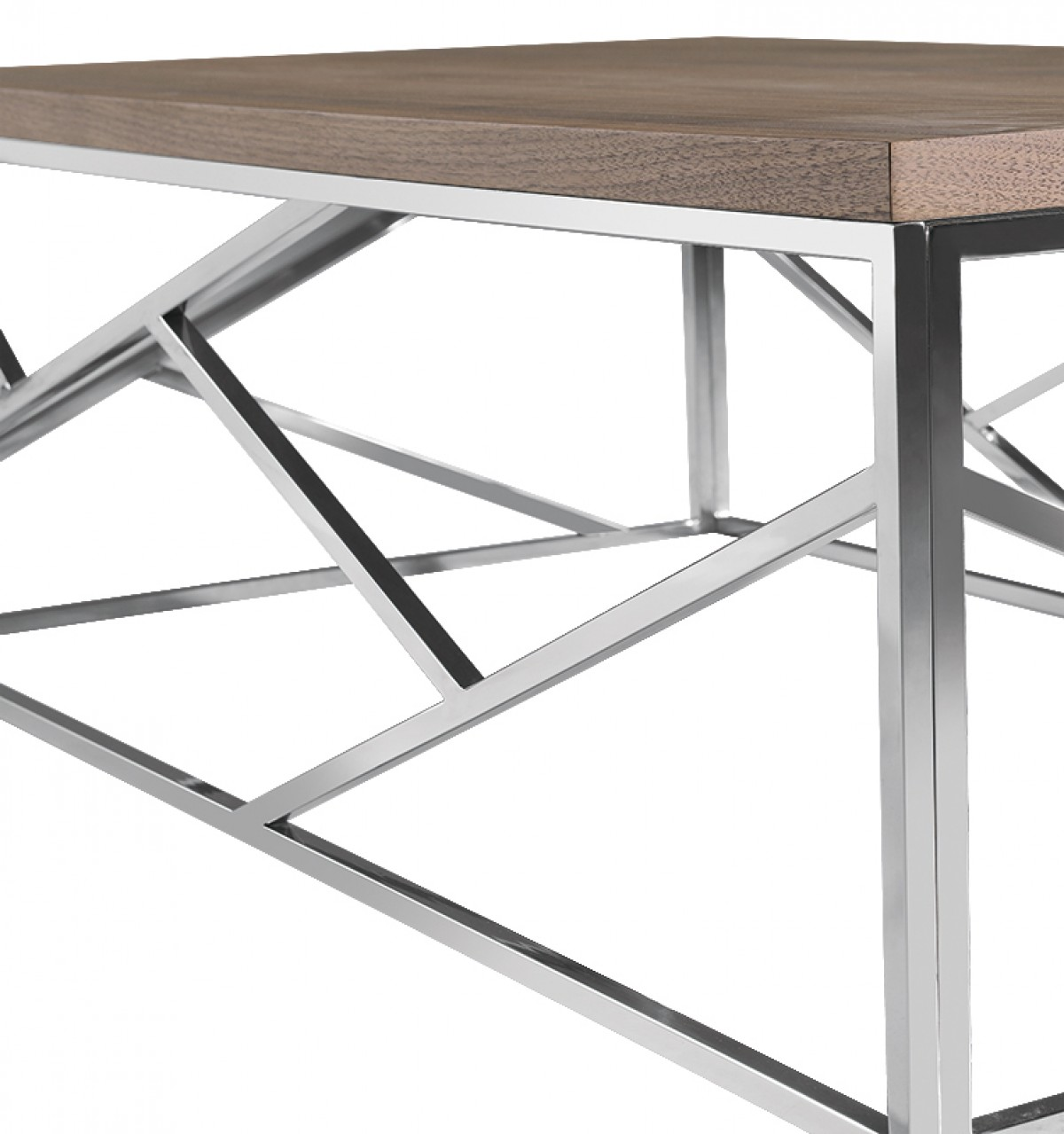 Modrest Upton Modern Square Glass Coffee Table Coffee: Modrest Jayton Modern Walnut Coffee Table