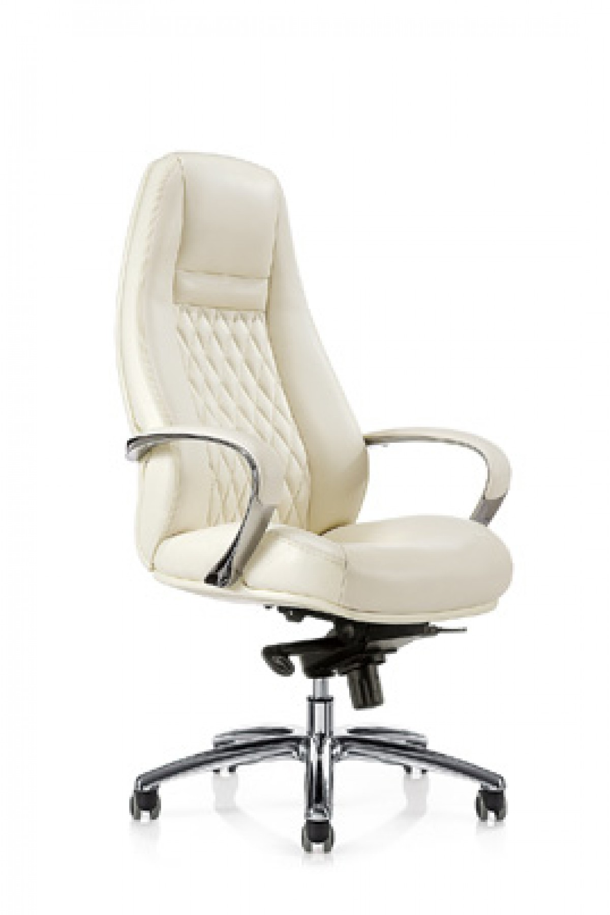 High Office Chairs modrest rupert modern white high-back office chair