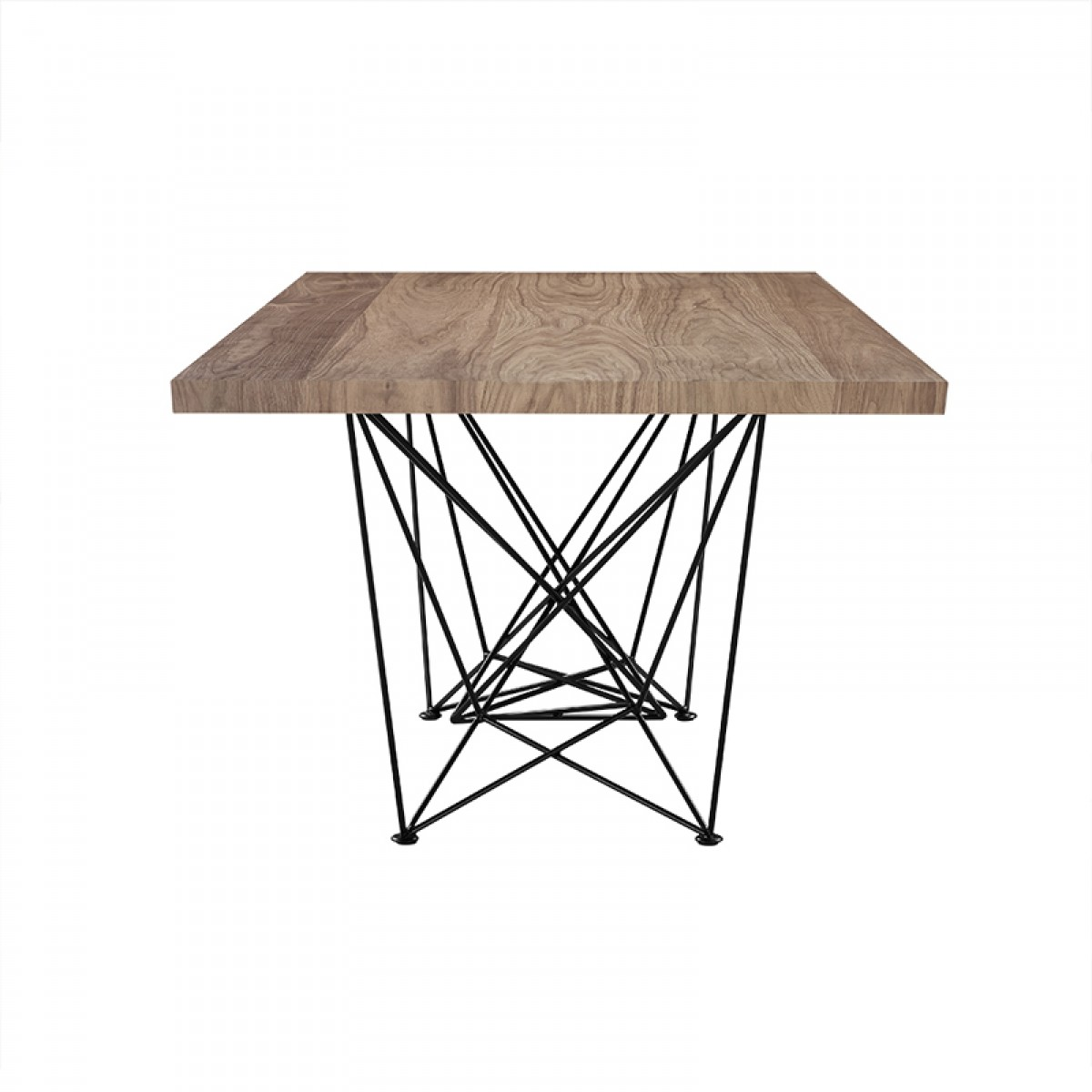 Modrest Naomi Modern Walnut Dining Table