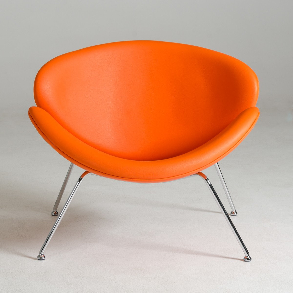 Modrest Anais Contemporary Orange Leatherette Accent Chair Lounge Seating