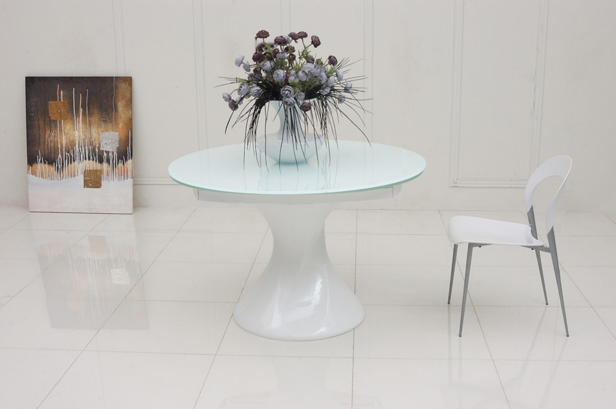 Modern Round White Dining Table - Starrkingschool