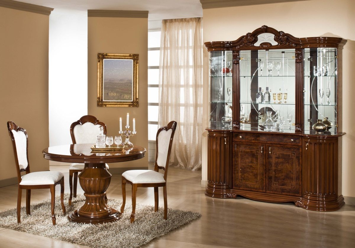 Modrest elizabeth italian traditional dining set for Italian dining room sets