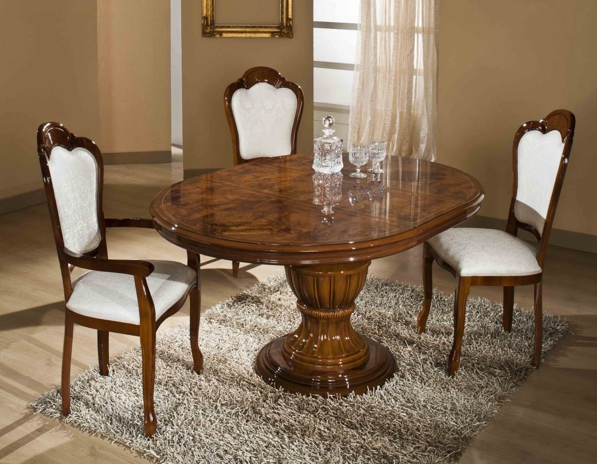Italian Dining Table Set Modrest Elizabeth Italian Traditional Dining Set