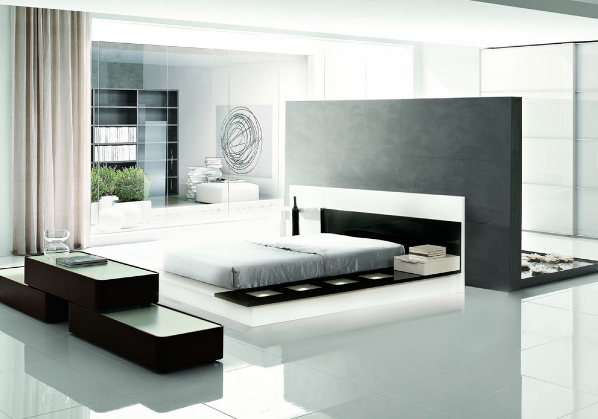 Modrest impera contemporary lacquer platform bed modern for I contemporary furniture