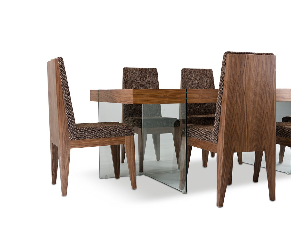 Aura contemporary walnut floating dining table for Modern furniture catalog