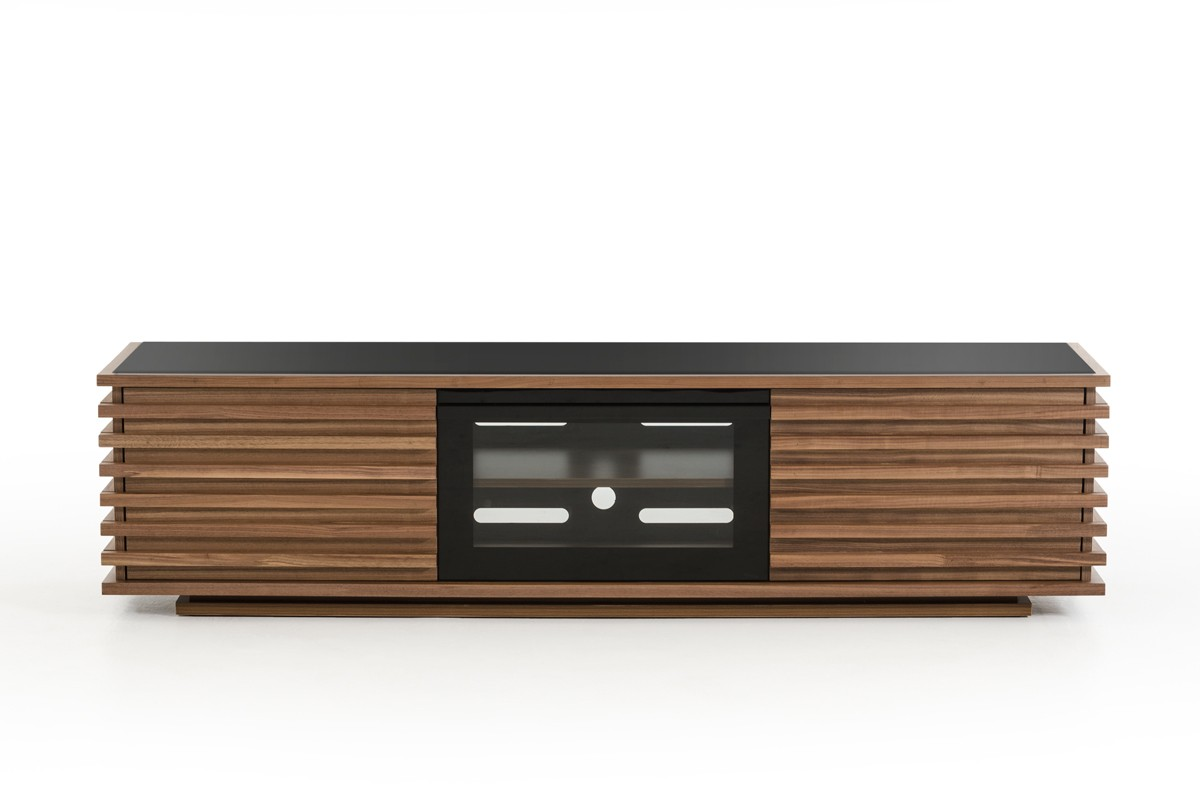 Nova Domus Fiorano Contemporary Walnut TV Stand - Entertainment ...