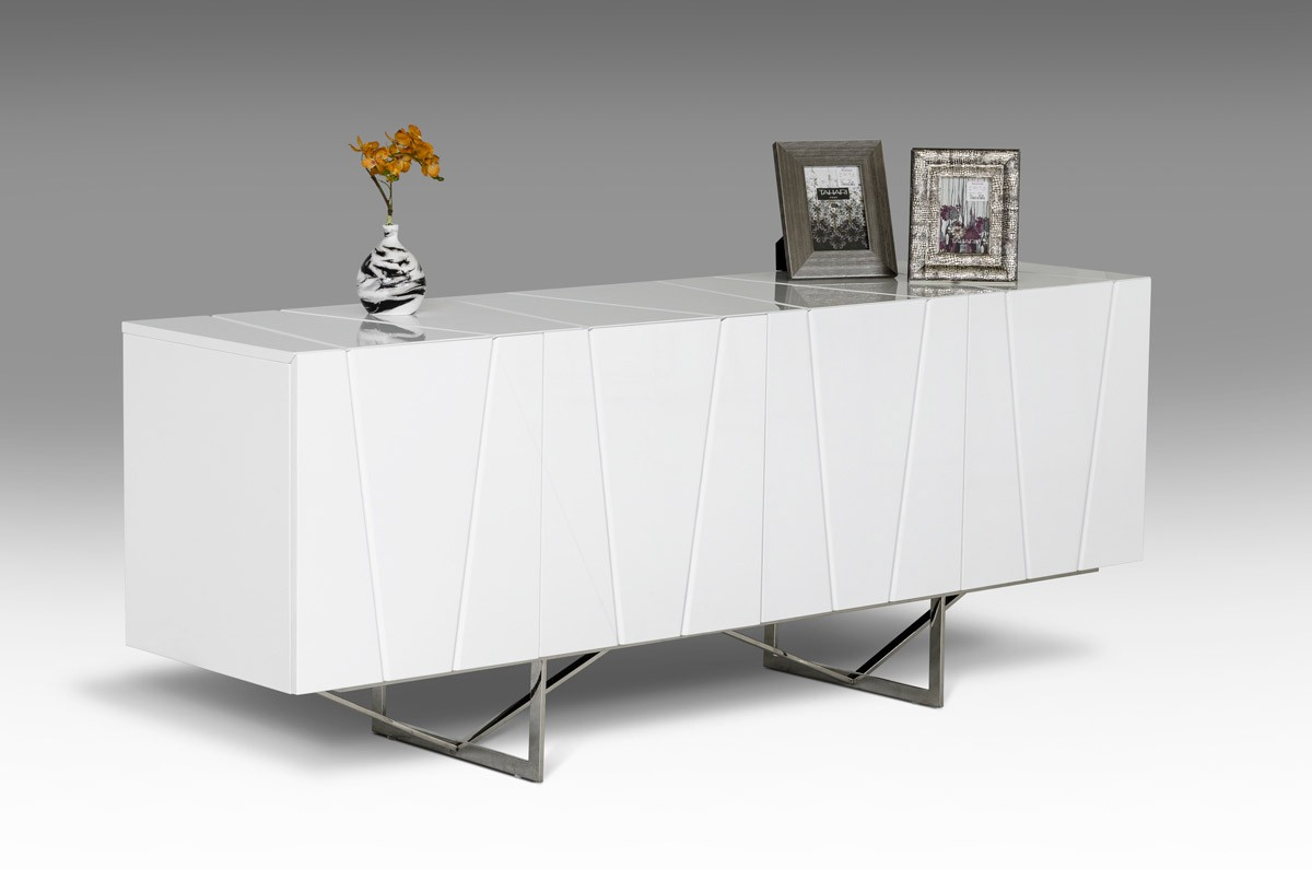 modrest chrysler modern white high gloss buffet buffets dining. Black Bedroom Furniture Sets. Home Design Ideas