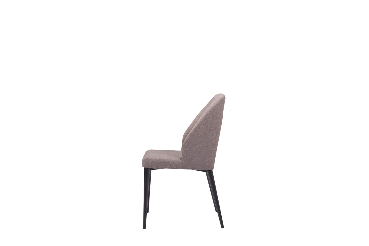 Modrest Fisher Modern Grey Fabric Dining Chair (Set Of 2