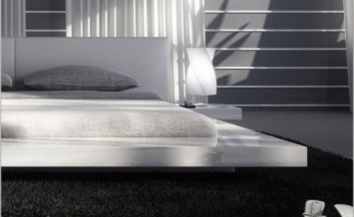 Opal white gloss japanese style platform bed with Platform bed japanese style
