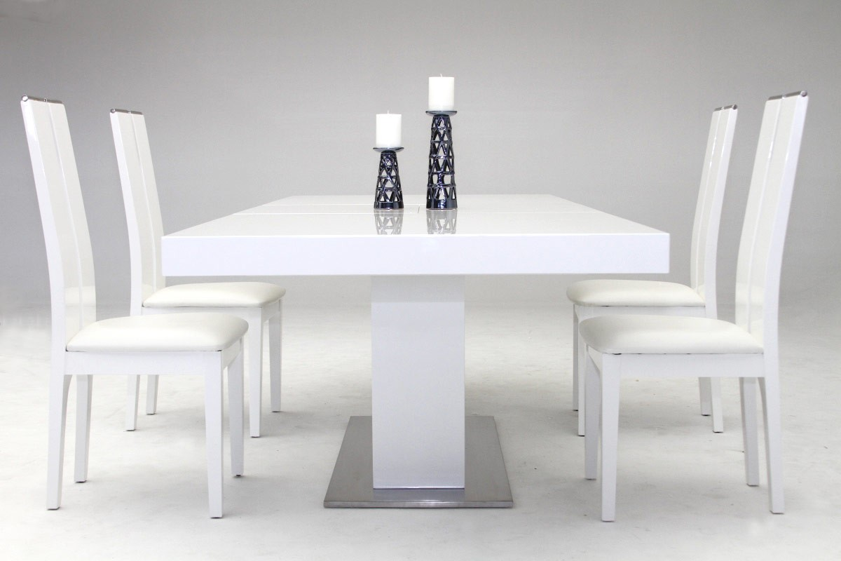 Modrest Zenith - Modern White Extendable Dining Table ...