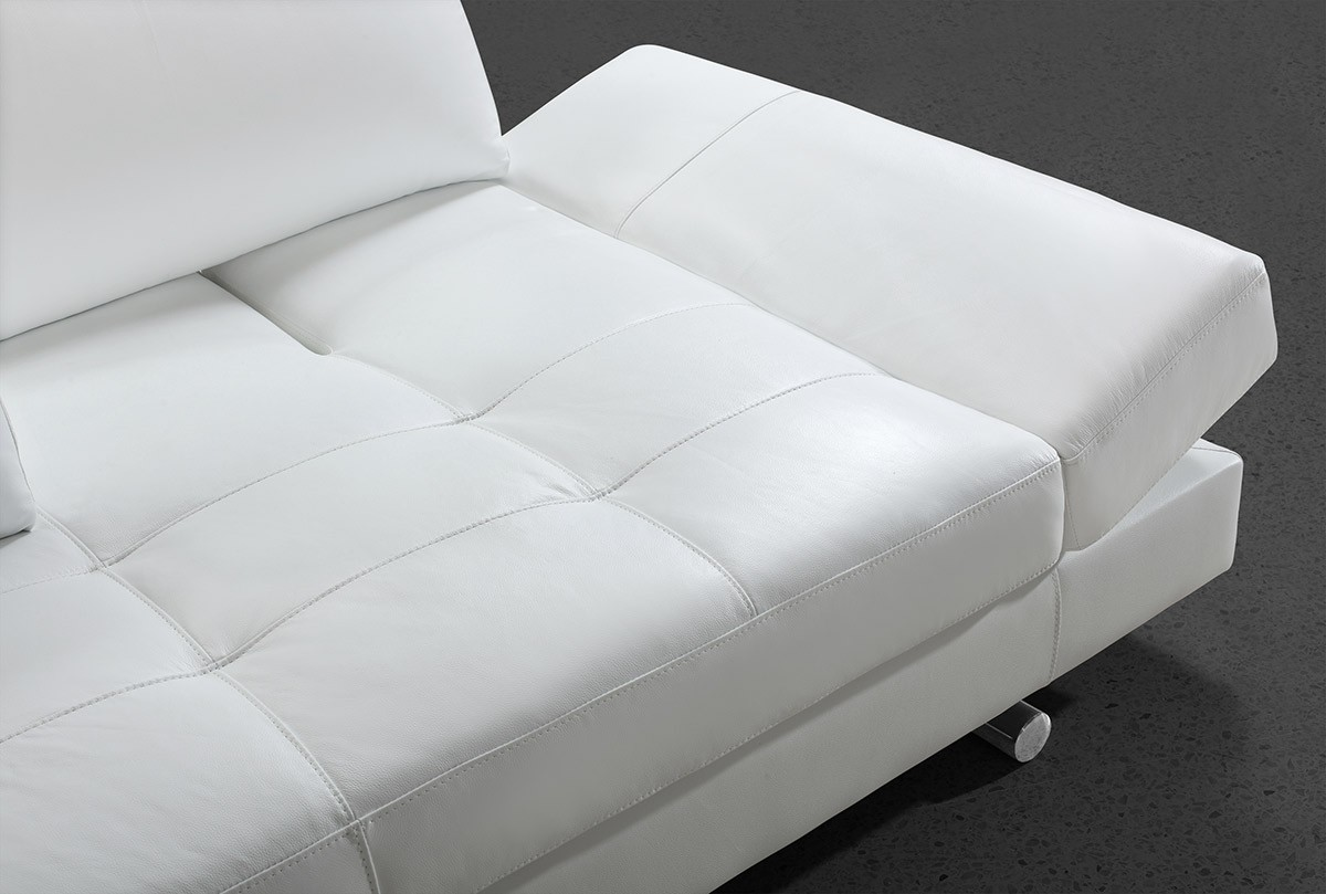 Divani Casa Hymn Modern White Leather Sofa With