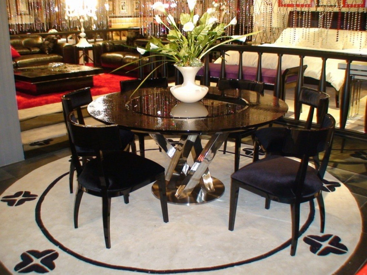 Round Dining Room Table With Lazy Susan - Starrkingschool