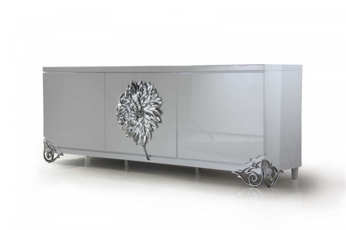 Versus Emma White Lacquer Modern Buffet Buffets Dining
