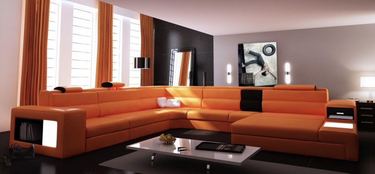 Divani Casa Polaris - Contemporary Bonded Leather ...