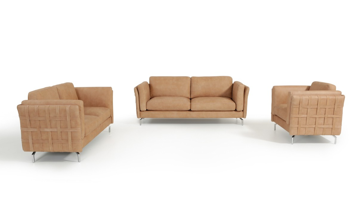 Estro Salotti Jenny Modern Terra Italian Leather Sofa Set Sofas Living Room
