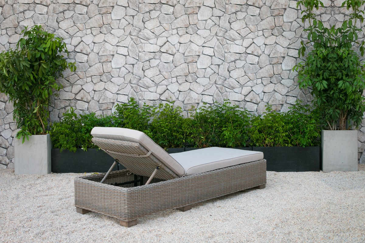 Renava Knox Outdoor Wicker Sunbed Outdoor