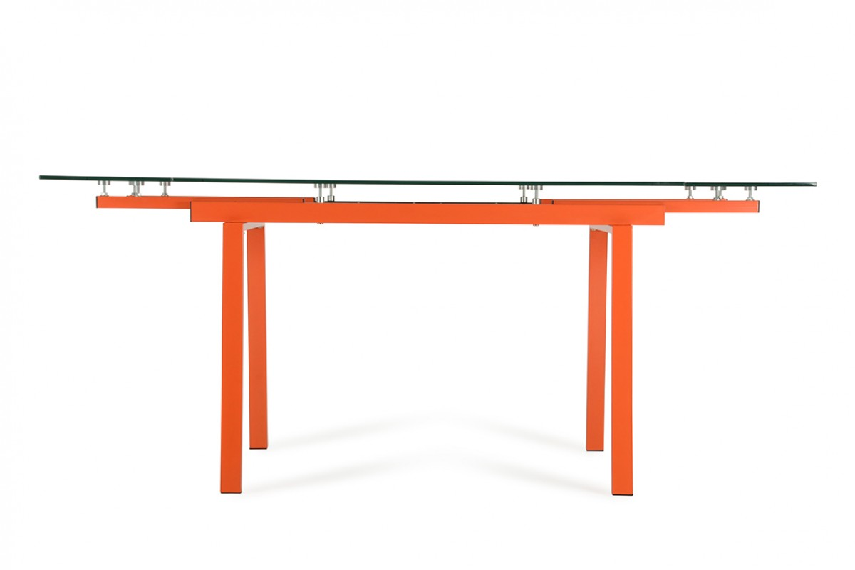 contemporary glass extendable dining table modern dining dining