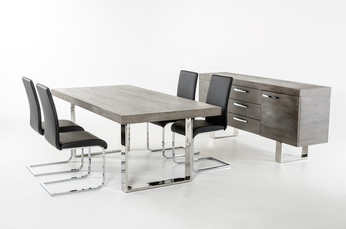 Modrest Lola Modern Grey Brush Buffet Buffets Dining