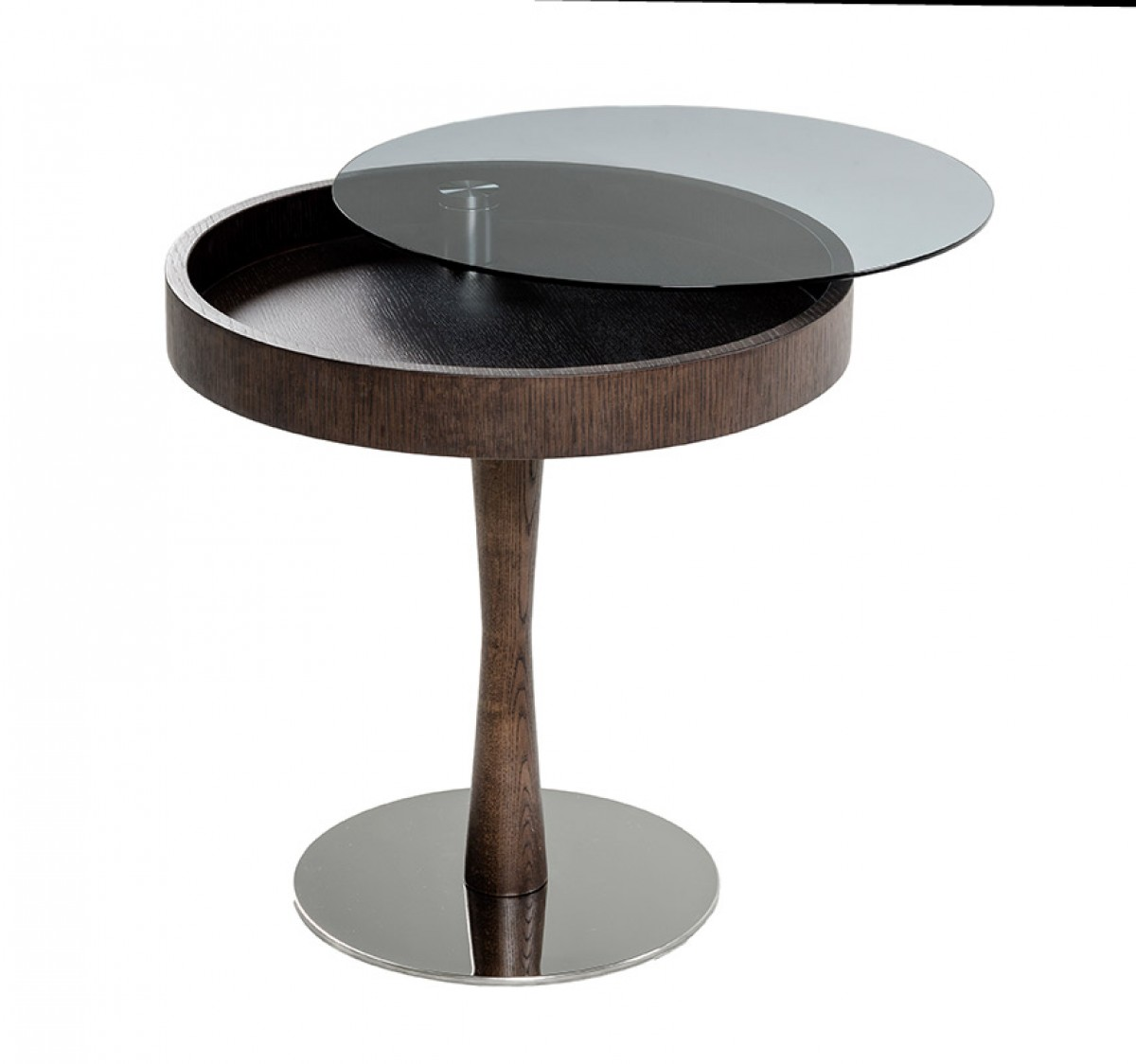 glass accent tables living room modrest jackson modern brown oak end table w glass 19845