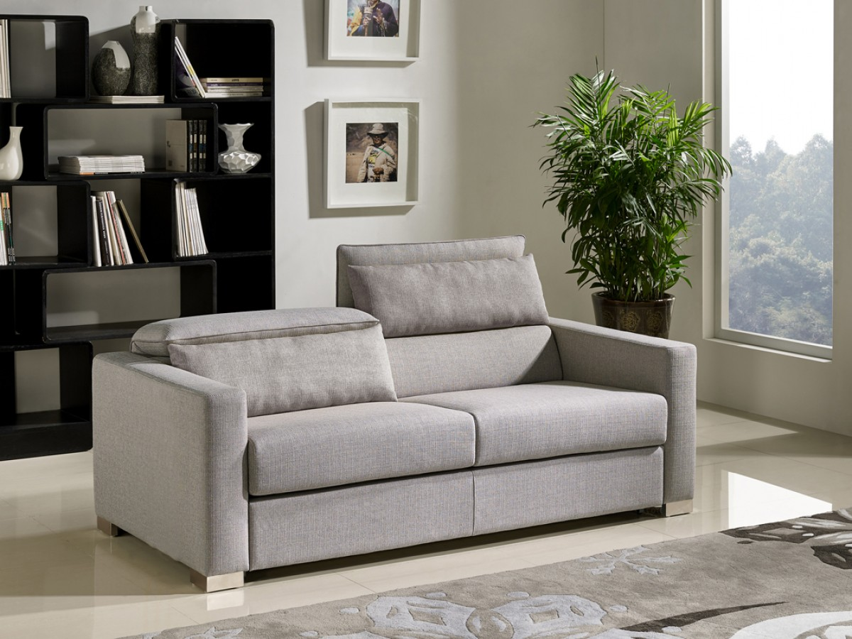 Divani Casa Norfolk Modern Grey Fabric Sofa Bed - Sofa ...