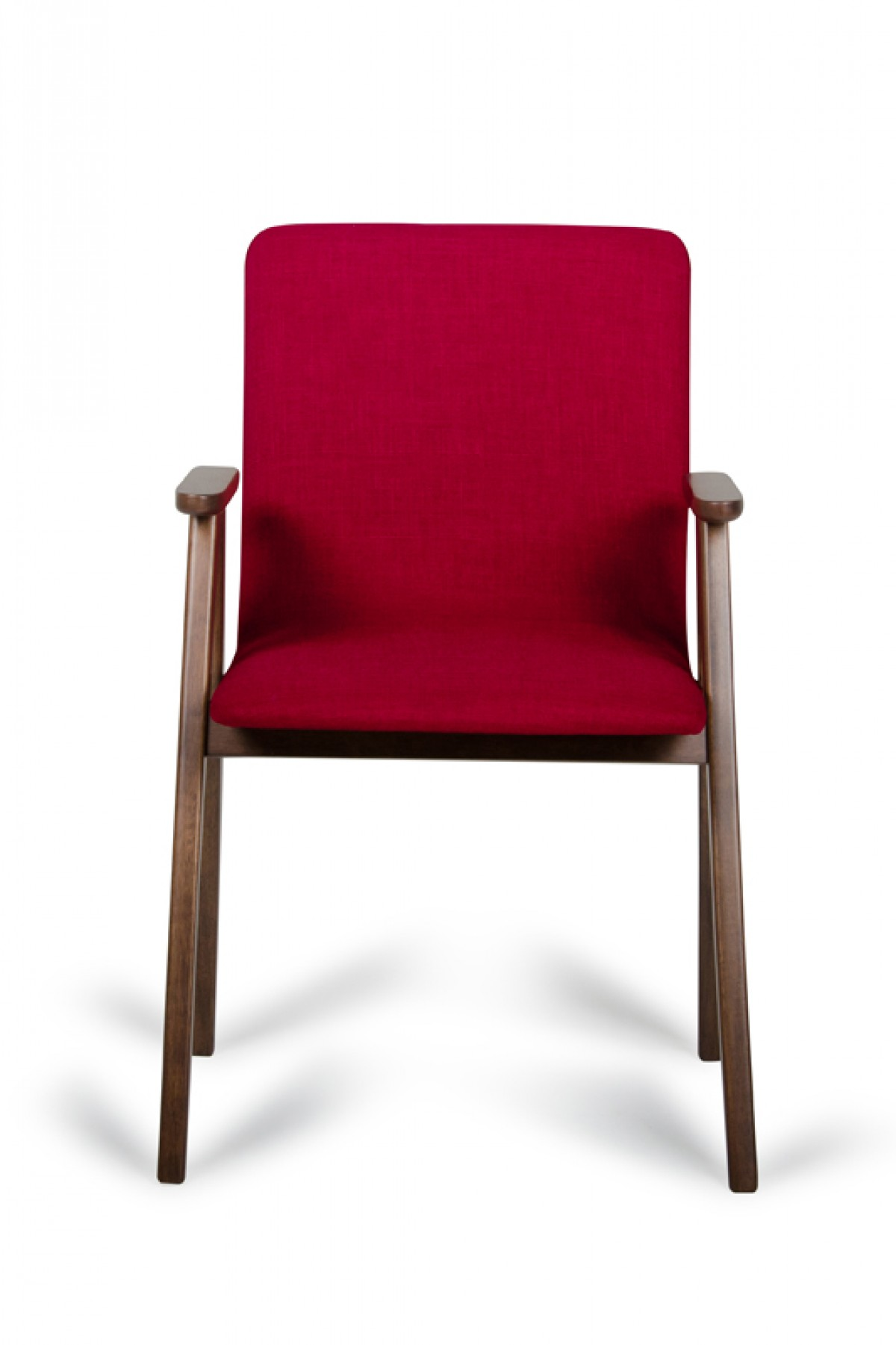 Maddox   Modern Red U0026 Walnut Dining Chair (Set Of 2)   Timeless    Collections